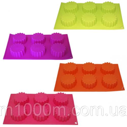 Форма для выпечки кексов 29*17*3см 20007