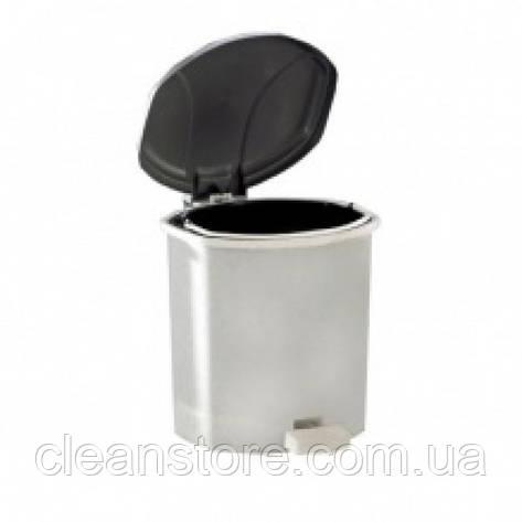 Ведро пластиковое с крышкой и педалью, 9 л., фото 2