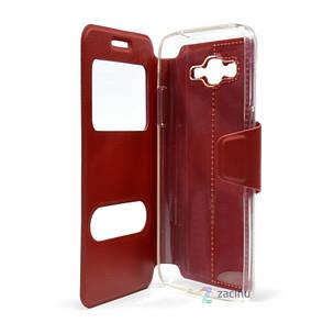 Чехол книжка iMAX для Samsung G532F J2 Prime (2016) Smart Case ser. Красный (332757), фото 2
