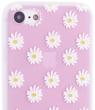 "Чехол накладка для iPhone 7/8 (4.7 "") Soft touch ser. Цветы Ромашки, фото 2"