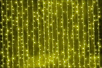 "Новогодняя гирлянда-штора GNT ""Дождь"" 200LED 2*1м желтая (бел. кабель)"