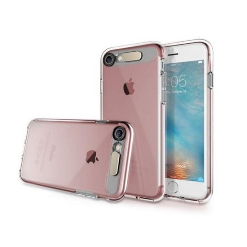 "Чехол накладка ROCK для iPhone 7 (4.7 "") Tube ser. TPU Розовый / прозрачный (649431)"