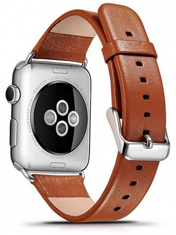 Ремінець Icarer для Apple iWatch 42mm Luxury Genuine Leather ser. Коричневий(992964), фото 2