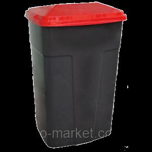 Бак мусорный -90л,с крышкой, пластик,Киев, фото 2