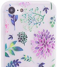 "Чехол накладка для iPhone 7/8 (4.7 "") Soft touch ser. Цветы Разноцветные, фото 3"