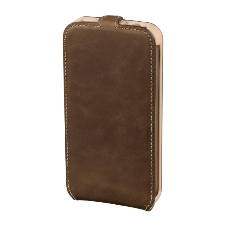 Чехол флип Hama для Samsung G900 S5 Prime Line Smart Case. Коричневый (00123685)