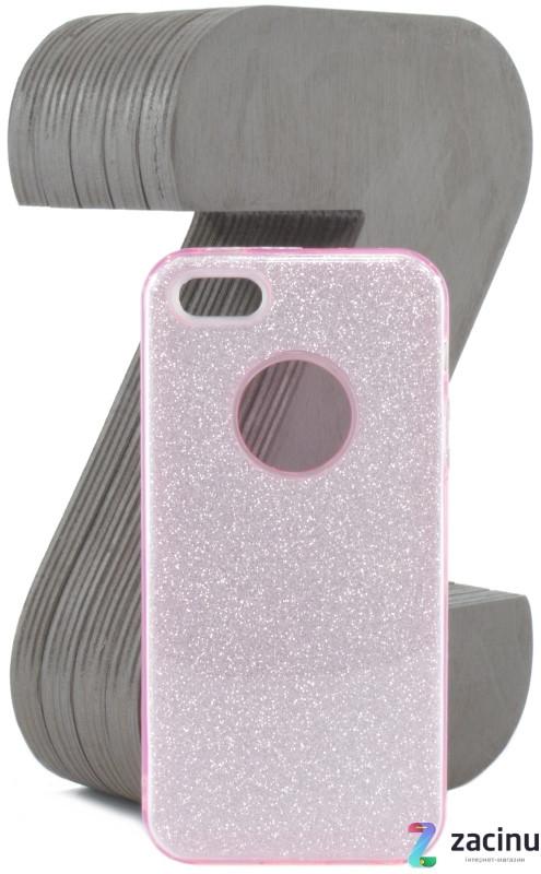 Чохол-накладка TPU для Apple iPhone 5/5S/SE Glitter ser. Рожевий(995163)