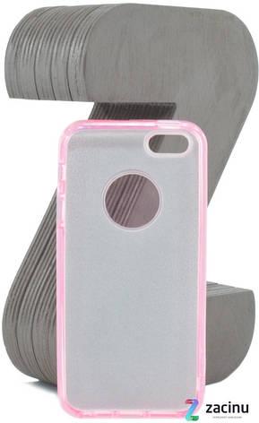 Чохол-накладка TPU для Apple iPhone 5/5S/SE Glitter ser. Рожевий(995163), фото 2
