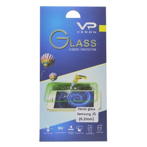 Защитное стекло Veron для Samsung J500H J5 2.5D 0.2mm Прозрачное, фото 2