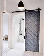Амбарная дверь деревянная в стиле лофт