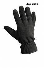 Флісові рукавички чорні Reis пара