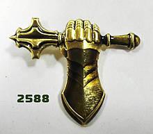 Кокарда на бере Танкових військ (золотистий).МЕТАЛ