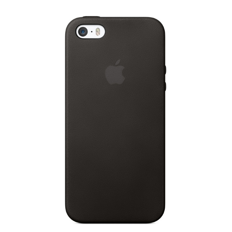 Чохол-накладка для iPhone 5/5S/SE Leather case ser. Чорний(325515)