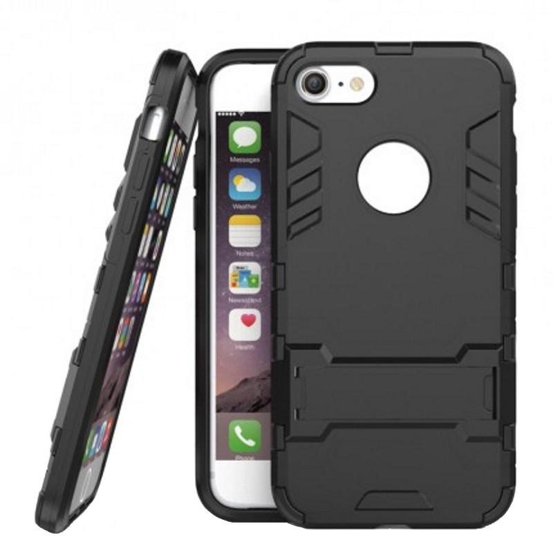 """Чохол-накладка Transformer для iPhone 7 (4.7"""") Ударостійкий підставка Чорний(324846)"""