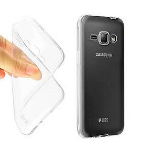 Чехол накладка TPU для Samsung J120H J1 (2016) / Ultra thin ser. Прозрачный / бесцветный, фото 2