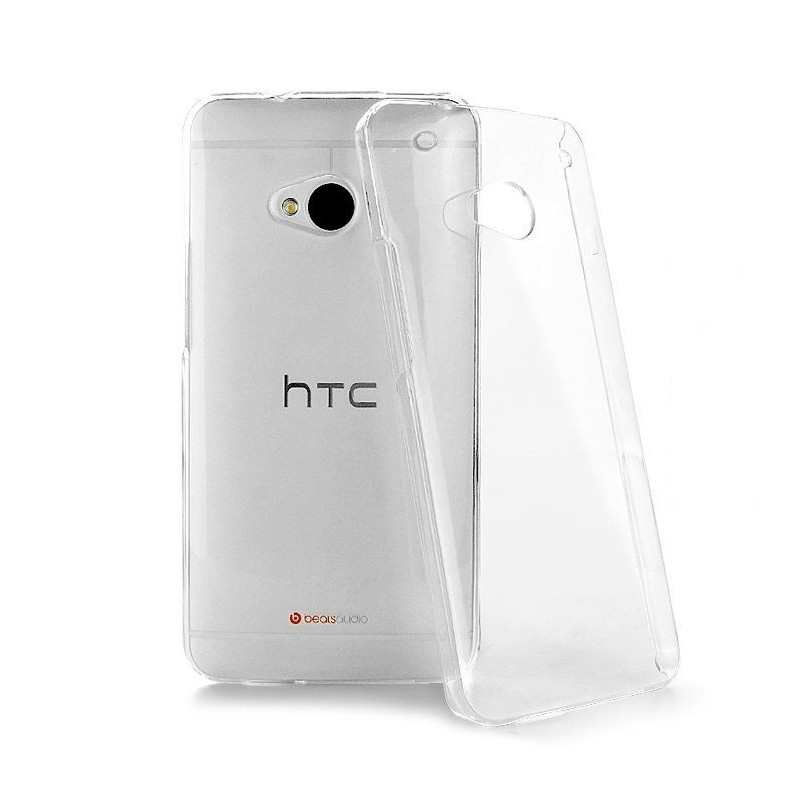 Чохол-накладка TPU для HTC One M7 Ultra-thin ser. Прозорий/безколірний