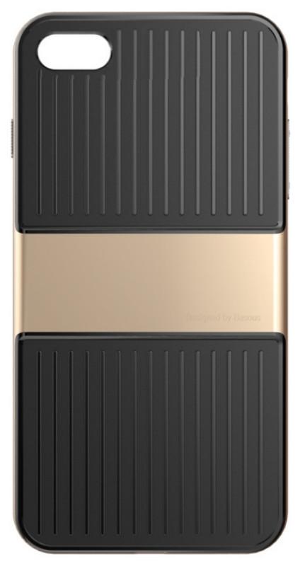 "Чехол накладка Baseus Wiapiph7 lx0v для iPhone 7 (4.7 "") Travel Ultrathin ser.Чорний / золотистый"
