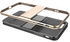 "Чехол накладка Baseus Wiapiph7 lx0v для iPhone 7 (4.7 "") Travel Ultrathin ser.Чорний / золотистый, фото 2"