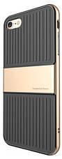 "Чехол накладка Baseus Wiapiph7 lx0v для iPhone 7 (4.7 "") Travel Ultrathin ser.Чорний / золотистый, фото 3"