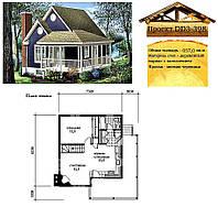 Проект каркасно-щитового дома с заполнением 57 м2. Проект дома бесплатно при заказе строительства