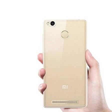 Чехол накладка TPU для Xiaomi Redmi 3 Pro / 3S Ultra thin ser. Прозрачный / бесцветный, фото 2