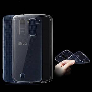 Чохол-накладка TPU для LG K10/ K410/ 430DS Ultra-thin ser. Прозорий/безколірний, фото 2