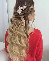 Украшения в прическу, цветы в волосы на заколке, шелковые цветы в прическу