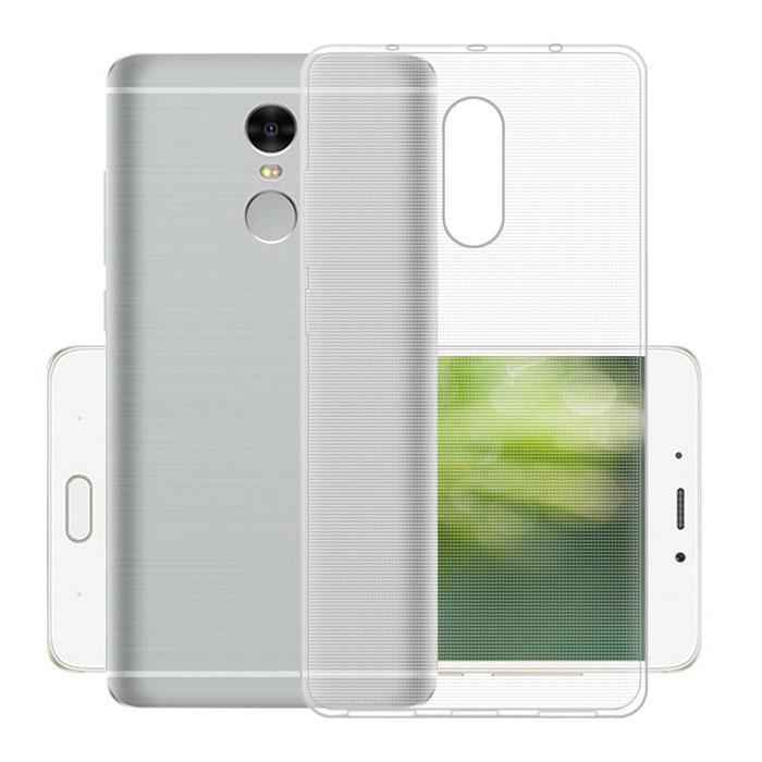 Чехол накладка TPU для Xiaomi Redmi Note 4 Ultra thin ser. Прозрачный / бесцветный