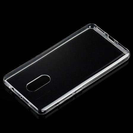 Чехол накладка TPU для Xiaomi Redmi Note 4 Ultra thin ser. Прозрачный / бесцветный, фото 2