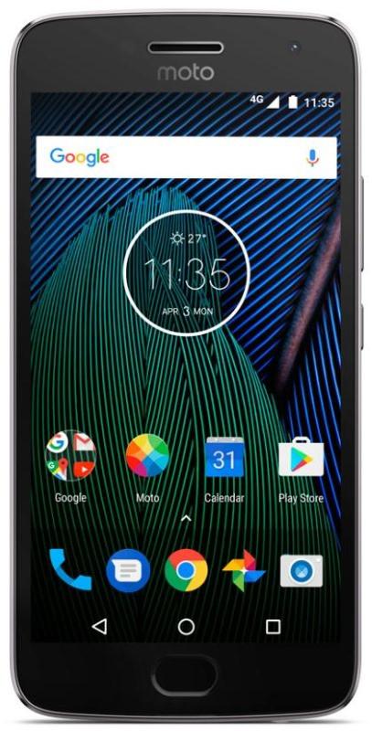 Смартфон MOTOROLA Moto G5 Plus (XT1685) Dual Sim (Сірий)