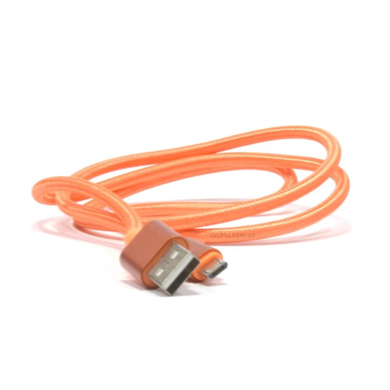 Кабель iMax micro USB Nylong Orange (330373)