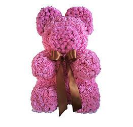 Мишка из розовых латексных  розочек