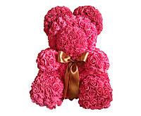 Мишка из красных латексных  роз