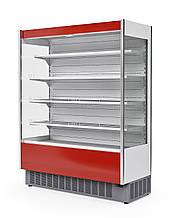 Витрина холодильная пристенная 1,2 м Флоренция ВХСп-1,2 CUBE красная