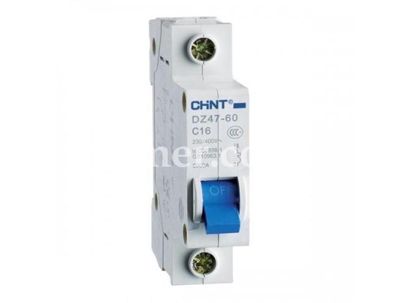 Автоматичний вимикач CHINT DZ47-60 1P 4.5KA C 16A