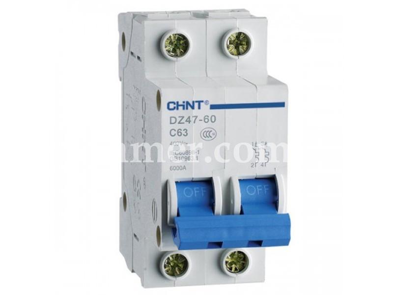 Автоматичний вимикач CHINT DZ47-60 2P 4.5KA C 63A