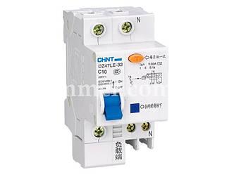 Диф. Автомат CHINT DZ47LE-32 1P+N C10 30mA тип AC х-ка С 6kA