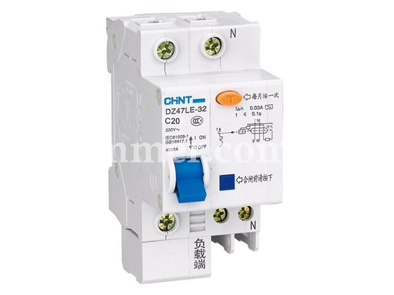 Диф. Автомат CHINT DZ47LE-32 1P+N C20 30mA тип AC х-ка С 6kA
