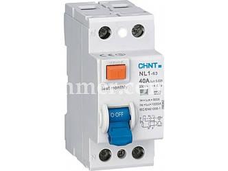 УЗО CHINT NL1-63 6kA 2P 40A 30mA тип AC