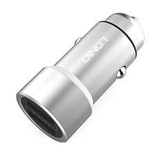 Автомобильное зарядное устройство LDINIO DL-C302 + cable lightning New powerful ser. серебристый, фото 3
