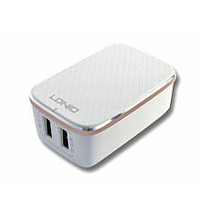 Зарядное устройство LDNIO A2204 + cable Lightning New powerful charging ser. White, фото 2