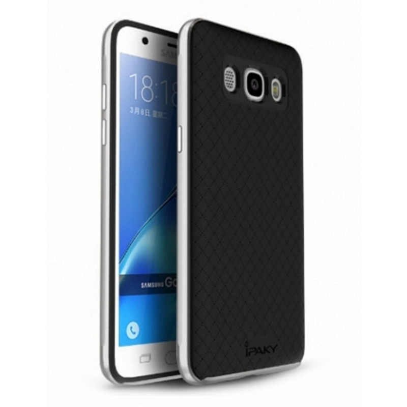 Чохол-накладка iPaky для Samsung J710F J7(2016) TPU+PC Чорний/сріблястий