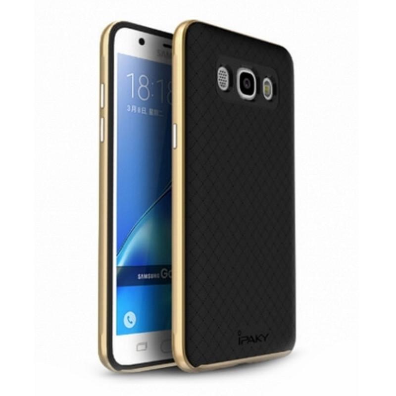 Чохол-накладка iPaky для Samsung J510F J5(2016) TPU+PC Чорний/золотистий(323856)