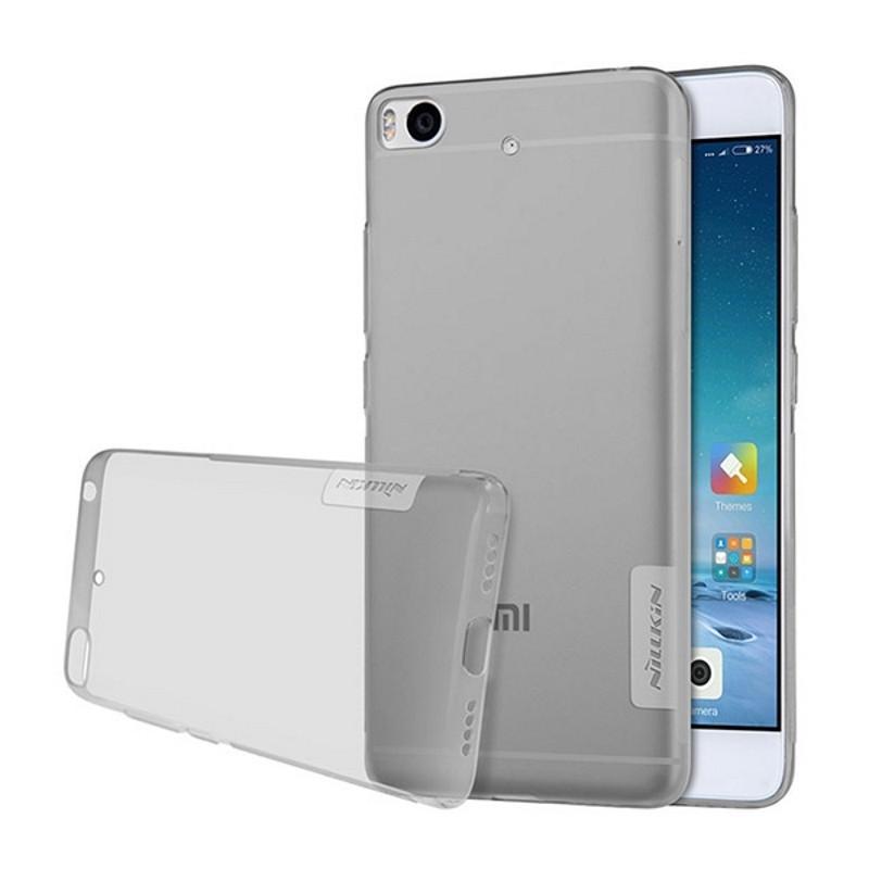 Чехол накладка Nillkin для Xiaomi Mi 5s Nature ser. Прозрачный / серый