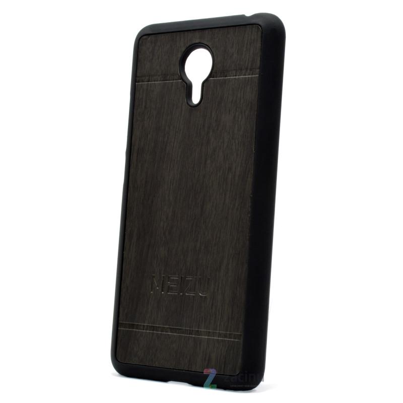 Чехол накладка для Meizu M3 Note Wood Vintage Style ser. серый