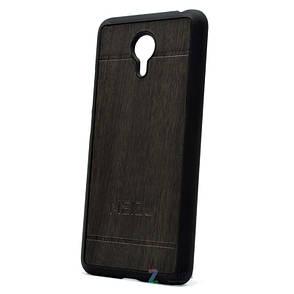 Чехол накладка для Meizu M3 Note Wood Vintage Style ser. серый, фото 2