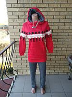Теплый  женский спортивный костюм трикотажный на флисе NN
