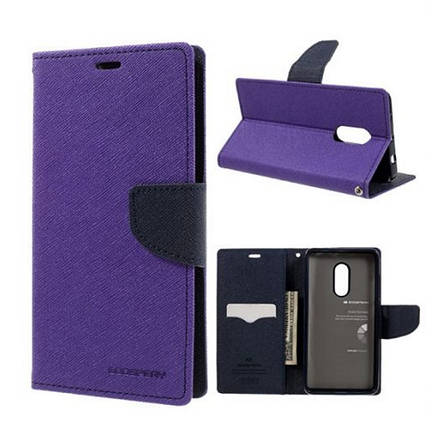 Чехол книжка Mercury для Xiaomi Redmi Note 4 Fancy Diary ser. Фиолетовый / Синий (331509), фото 2