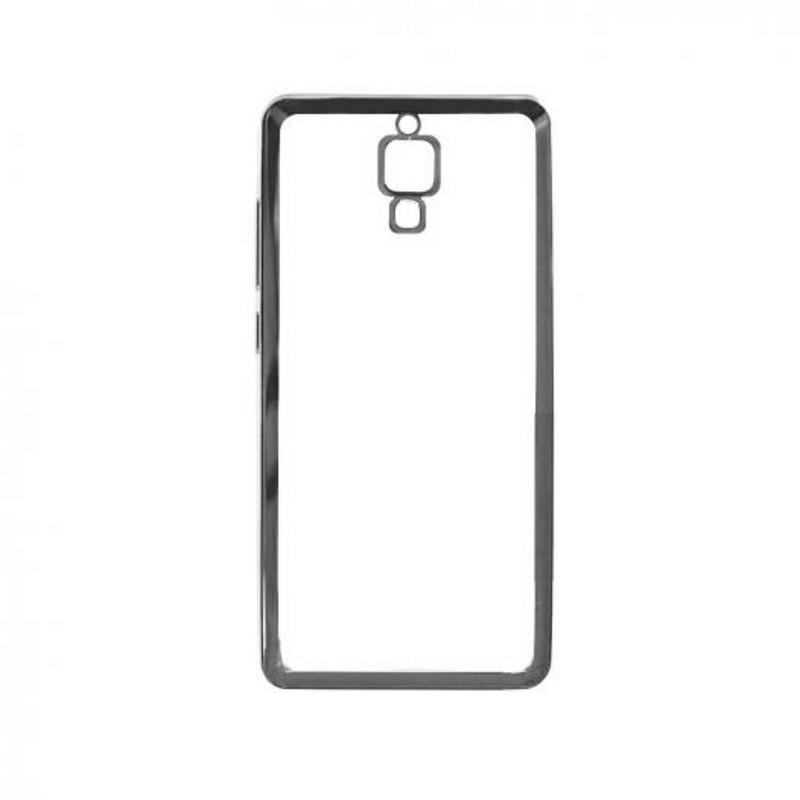 Чохол-накладка для Xiaomi Redmi Note Прозорий/сріблястий
