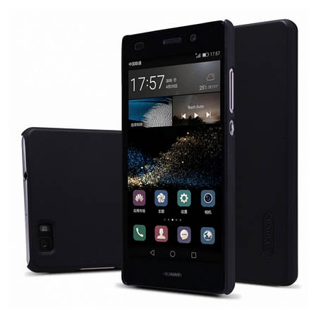 Чохол-накладка Nillkin для Huawei Ascend P8 Lite Matte ser.+ плівка Чорний, фото 2